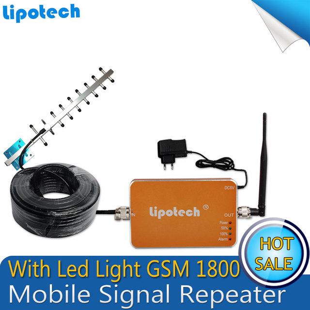 1 x Conjunto 4G LTE FDD Repetidor DCS1800 Celular Móvel Reforço De Sinal UMTS 1800 mhz ALC Função Amplificador de Telefone + Yagi antena