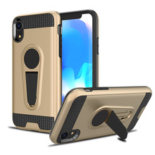 TPU+PC Ultra Thin Car holder Phone Case For iPhone Xr 6.1Anti knock
