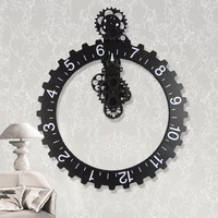 Fashion mute wall stickers wall clock personalized vintage mechanical gear clock modern design