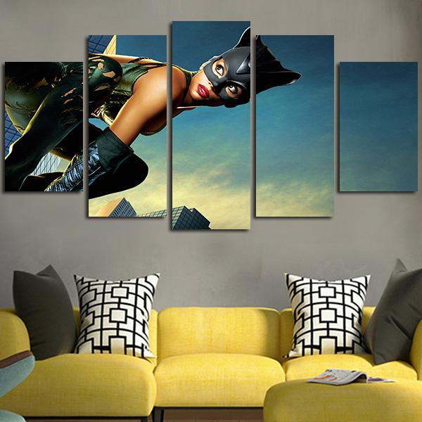 5 Panel Catwoman In 2004 Wall Art Canvas image