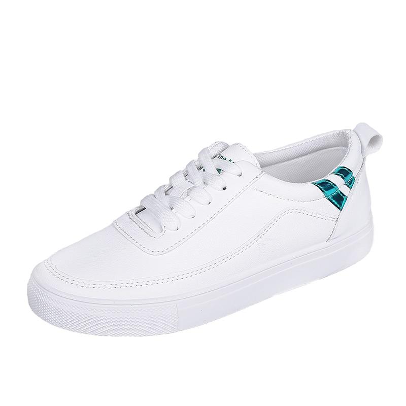 Spring/Autumn White Shoes Women 2018 New Flat Casual Women Skateboard Shoes 6