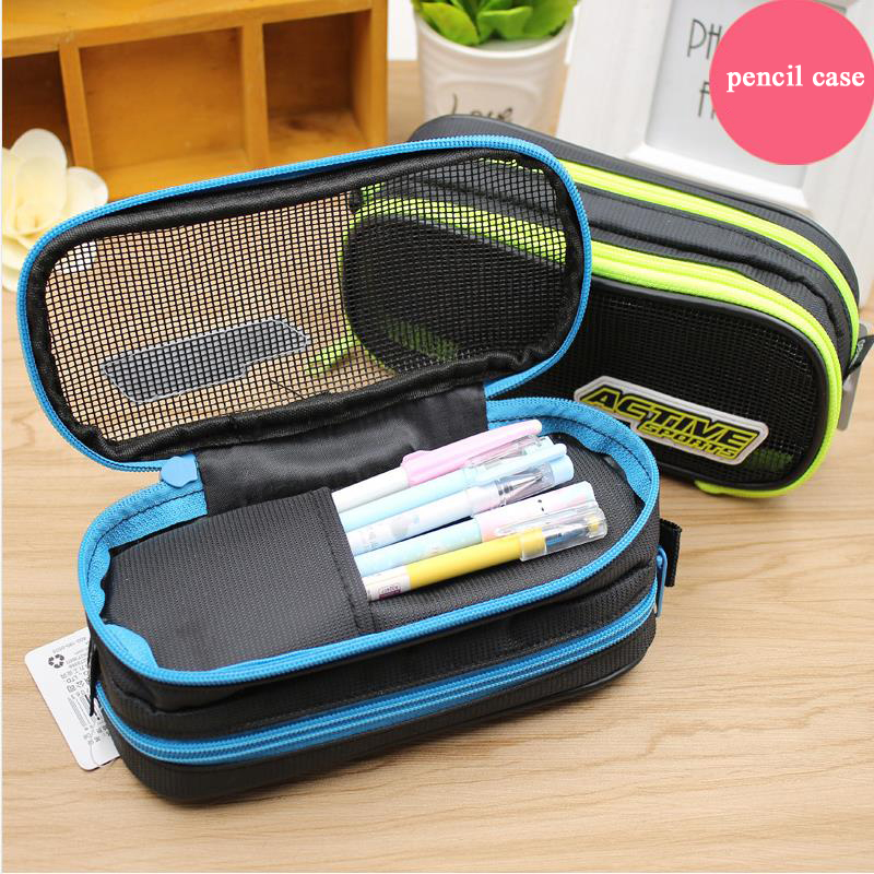 1Pcs 2017 New High Quality Big Pen Curtain Multifunctional Pencil Case Super Large Capacity Stationery Bags Box  04854 curtain poirot s last case