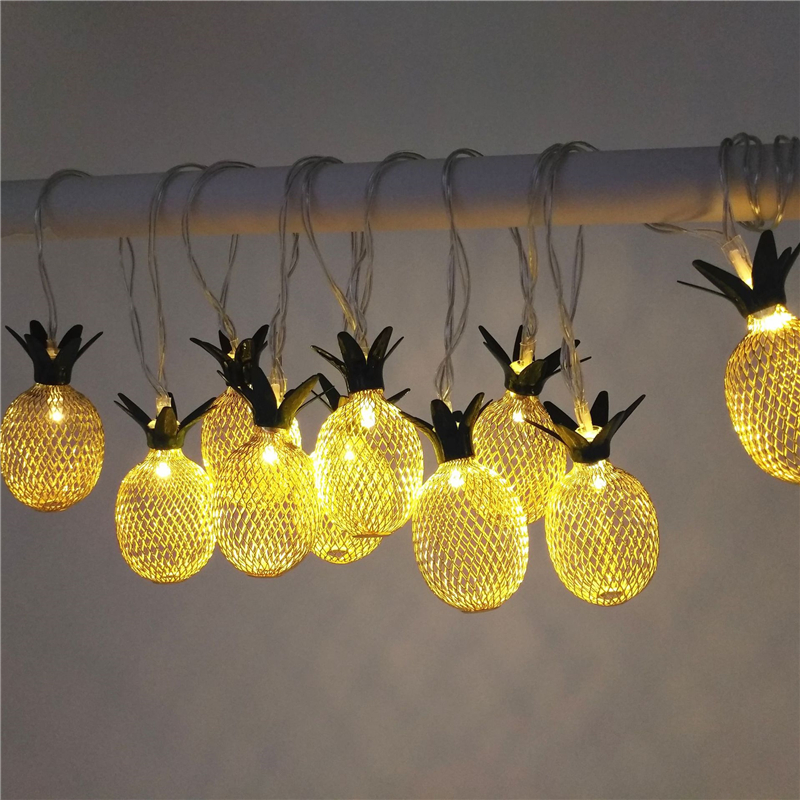 Festive & Party Supplies Metal 1.6m Led String Lights For Hawaiian Party Diy Decoration Drop 10pcs Pineapple String Lights For Birthday Party Wedding,w Neither Too Hard Nor Too Soft Home & Garden