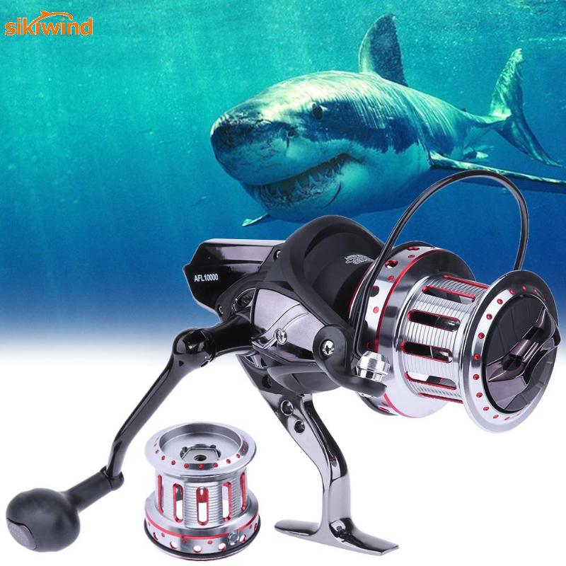 11+1BB 4.7:1 Surf Casting Fishing Reel 10000-9000 Useful Spinning Reel Spare Metal Spool Feeder Fishing Tackles Tools Pesca prusa i3 update version large size xl aluminum extended 300x200mm y carriage plate for reprap 3d printer