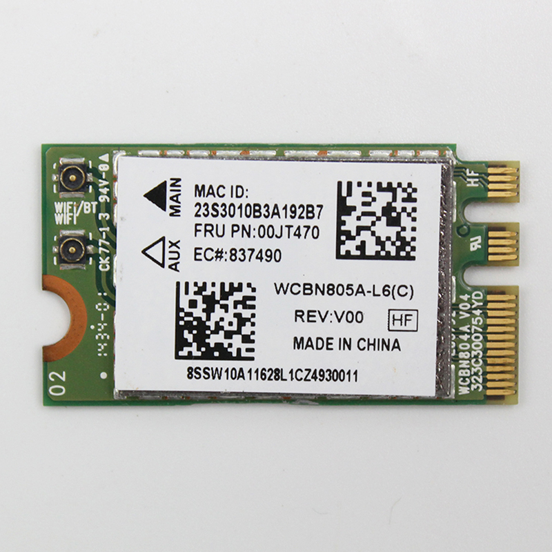Ltn NFA345 AC+BT4.0 WiFi Card For Lenovo IdeaPad G50-45 G70-80 Series ,FRU 00JT470 SW10A11628 WCBN805A-L6(C)