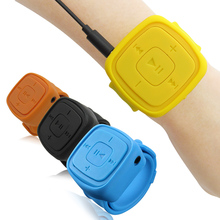 New Sport Watch Mp3 Player With Plastic Coat & Volume+- Button 4 Color Black Blue Yellow Orange Music Songs Pause/Play/Switch