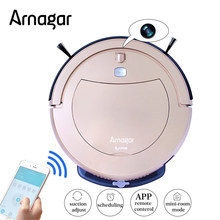 Smartphone WIFI APP Control Robot Vacuum Cleaner With 75ml Water Tank Wet mop and Dry mop,Smart Sweep Recharge Aspirapolvere