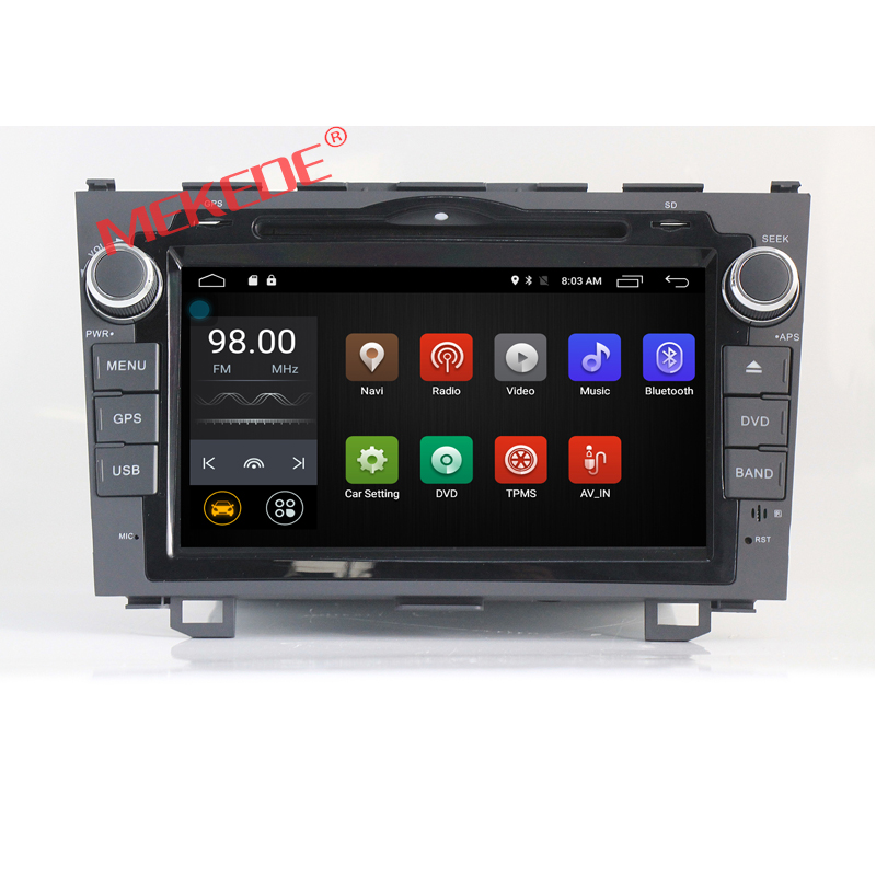 free shipping Quad Core 2Din Android 7 1 Car DVD radio player for CRV 2006 2011