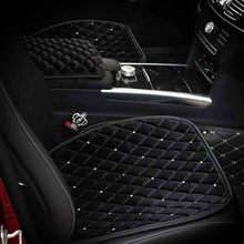 Luxury Warm Car Seat Protector Mat, Crystal Rhinestone Cushion