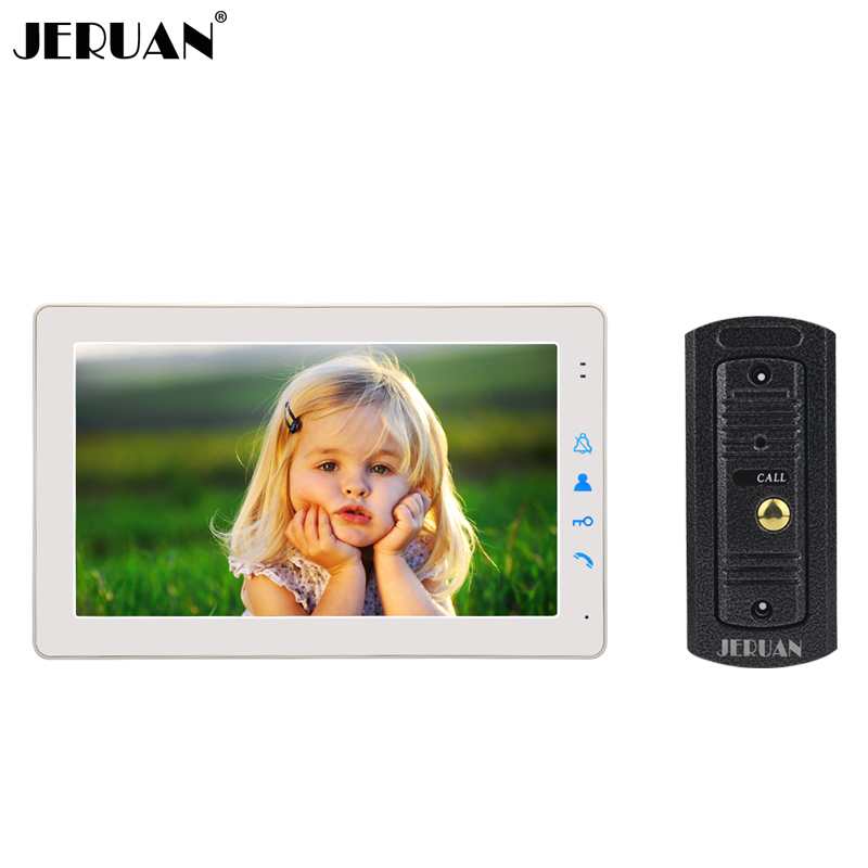 JERUAN Home Wired 9 inch Video Intercom Door phone Doorbell Unlock Intercom System Kit Metal Mini Camera In Stock FREE SHIPPING jeruan home wired 9 inch lcd video intercom door phone doorbell unlock intercom system kit hd ir camera in stock free shipping