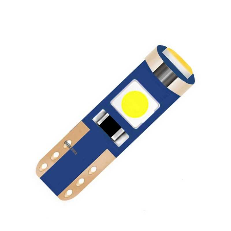 1Pcs T5 W3W W1.2W Super Bright 3 SMD 3030 LED Bulb Canbus Car Instrument Panel Lamp Auto Dashboard Warming Indicator Wedge Light