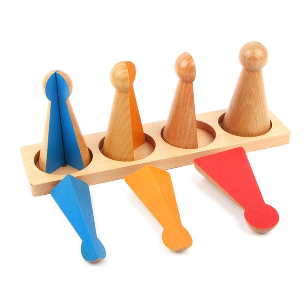 Montessori bébé éducatif en bois mathématiques enseignement jouets Fraction jouet poupées