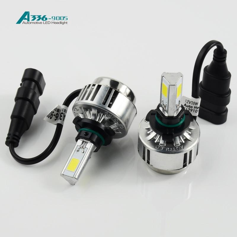 ФОТО YUMSEEN 9005 A336  3 Super white Led Lights 12V 36W 3300LM LED Headlight Kit 6000K Xenon White Bulbs car-styling for honda