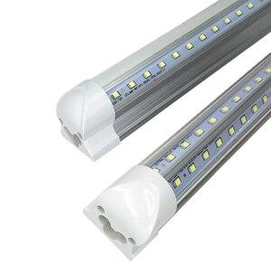 Image 2 - T8 zintegrowany kształt V świetlówka LED włókno światłowodowe bez migotania lampa 2835 LED light 4ft = 28W 8ft = 65W AC85 265V rurki LED sklep W usa