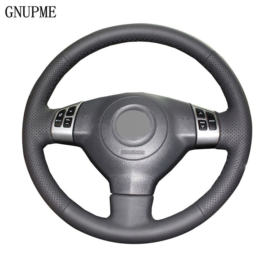 Black Genuine Leather Car Steering Wheel Cover for Suzuki Swift Alto Tianyu Special hand-stitched steering wheel cover
