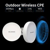 2pcs Comfast 300Mbps 2.4Ghz wireless Outdoor Wifi Long range cpe 12dbi Antenna wi fi repeater router Access point bridge AP