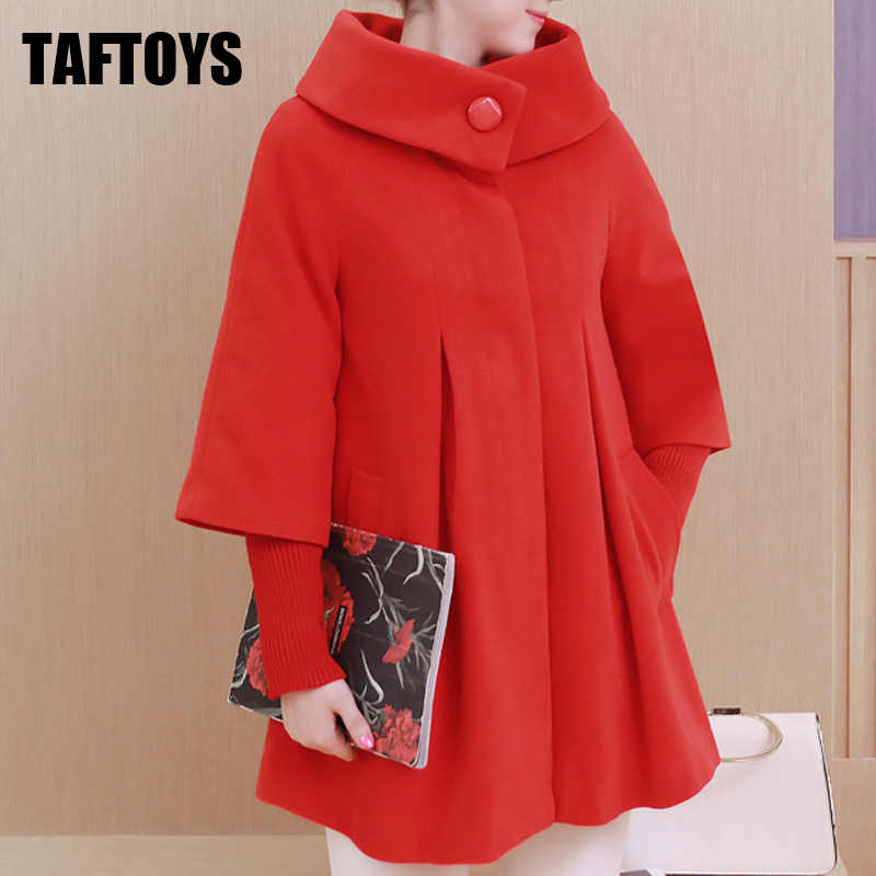 Maternity Clothes Coat Autumn Winter Loose Maternity Clothing Jacket Trench Pregnant Women Outerwear Woolen  Maternity Long Coat
