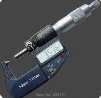 Automatyczne taśmy środki darmowa wysyłka podwójny punkt elektroniczny mikrometr gauge narzędzia pomiarowe podwójne końcówki sondy 60 stopni