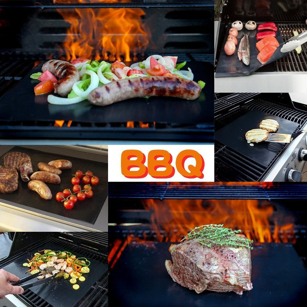 Easy Clean Hot Resistance Non stick BBQ Grill Mat Barbeque Baking Liners Reusable Teflon Double Side Grilling BBQ Tools 30x40cm
