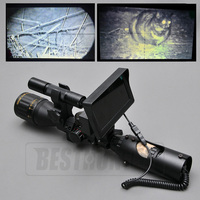 Night Vision Riflescope Outdoor Hunting Scopes Optics Sight Tactical Digital Infrared With Battery Monitor And Flashlight