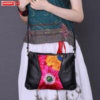 Original ethnic style hot selling Women Messenger bag Genuine leather shoulder bag handbag embroidery female crossbody Bags