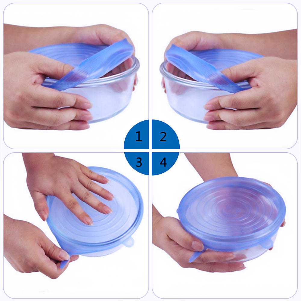 Silicone Stretch Lids Reusable Food Wrap Lid Dish Container Cover Universal Lid Fresh Keeping Kitchen Accessories (13)