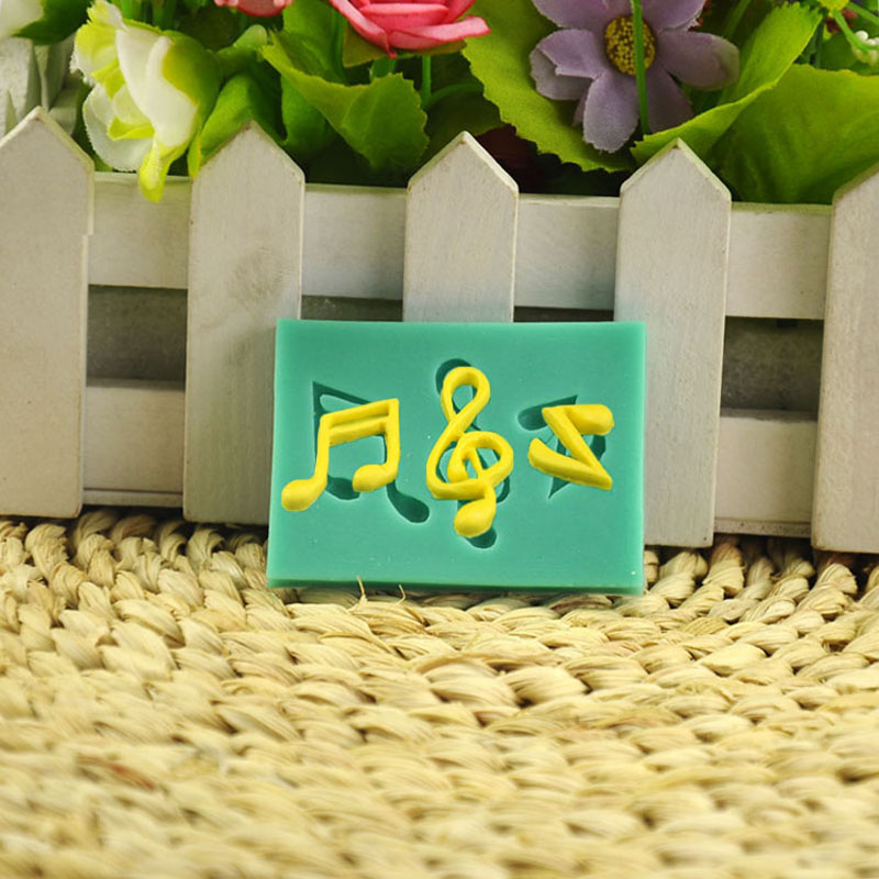 1pcs Music Note Silicone Soap Mould Fondant Cake Pastry Chocolate ...