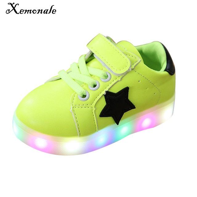 Xemonale Children Shoes Light Baby Boys Girls LED Light Up Shoes Kids  Luminous Sport Glowing Sneakers Boys Girls Ligthed Shoes 331eba3b4f47