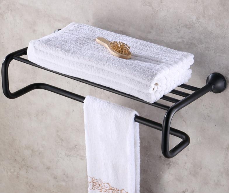 Oil Rubbed Bronze Bathroom Towel Rail Holder Rack Bar Shelf Wall Mounted mba851