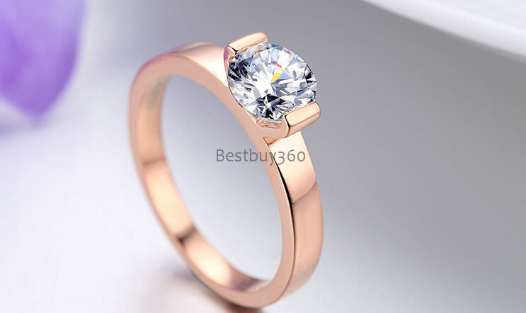 Diamond jewelry 1 carat SONA synthetic diamond ring 925 silver ring 18K gold platinum bridal ring US size from 4 to 12 (JSA) 0 5ct 925 sterling silver ring synthetic sona nscd diamond ring 18k white gold plated ring love letter engrave ring yd