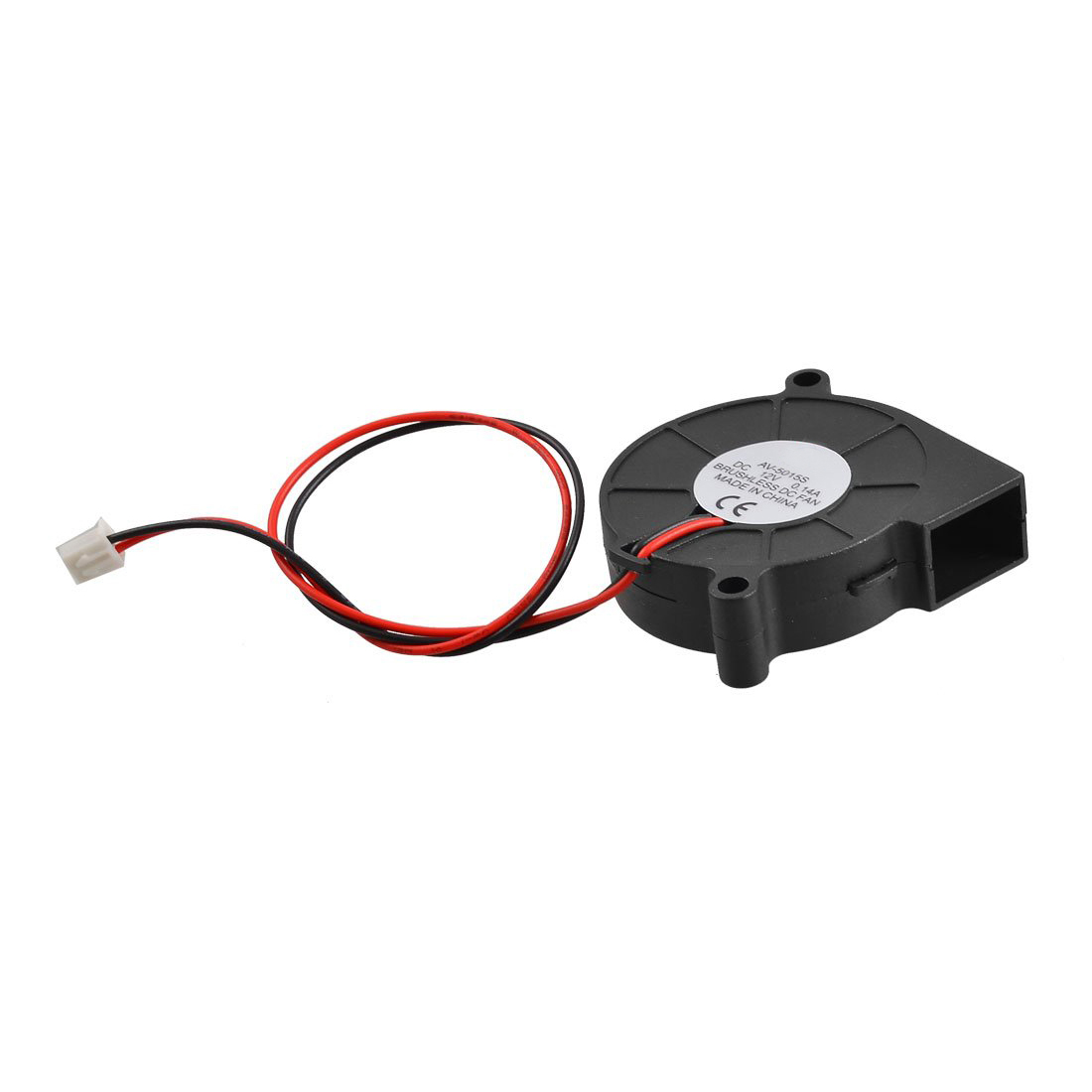 Black Brushless DC Cooling Blower Fan 5015S 12V 0.14A 50mm x 15mm Turbo Blower Fan 2 Wire gdstime 2 pcs 75mm x 15mm brushless 12 v 2pin dc cooling blower fan 7515 7cm 75x15mm 7 5cm