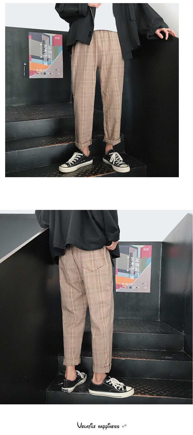 LAPPSTER Streetwear Yellow Plaid Pants Men Joggers 19 Man Casual Straight Harem Pants Men Korean Hip Hop Track Pants Plus Size 18