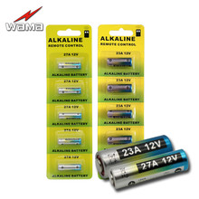 Wama 1 Pack of 23A and 27A 12V Alkaline Primary Dry Batteries Car Remote Electronic Battery Wholesales A27 27AE 27MN L1028