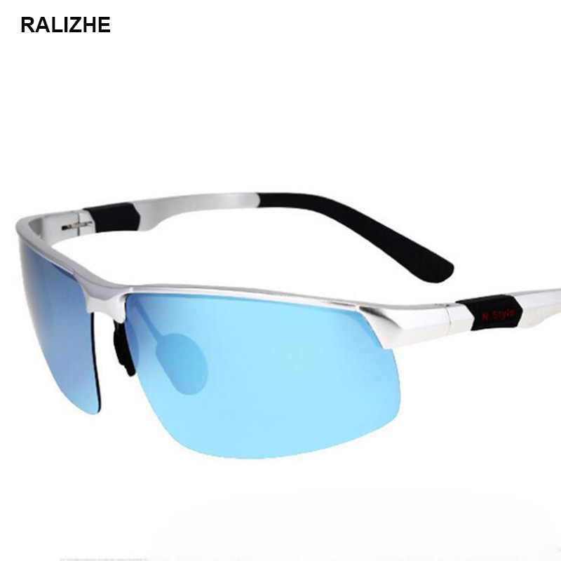 Ralizhe Fashion Polarized Sunglasses Men Square Sport Vintage Silver Sun Glasses Car Driver Driving Light Blue Mirror Uv400 Lens Good For Energy And The Spleen Men's Glasses Back To Search Resultsapparel Accessories