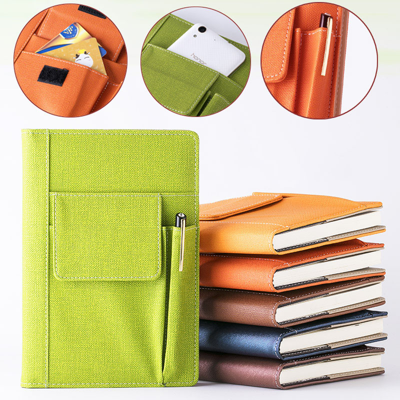 RuiZe New Multifunctional Business notepad planner office notebook A5 leather notebook hard cover creative stationery note book все цены
