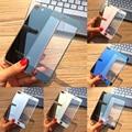 Chegada nova frente + voltar 2.5d cor chapeamento electroplate espelho filme protetor de tela de vidro temperado para iphone 7 plus
