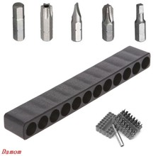 Screwdriver Hole 10/12 Holes Hex Shank Bit Holder Plastic Head Storage Case Tool(China)
