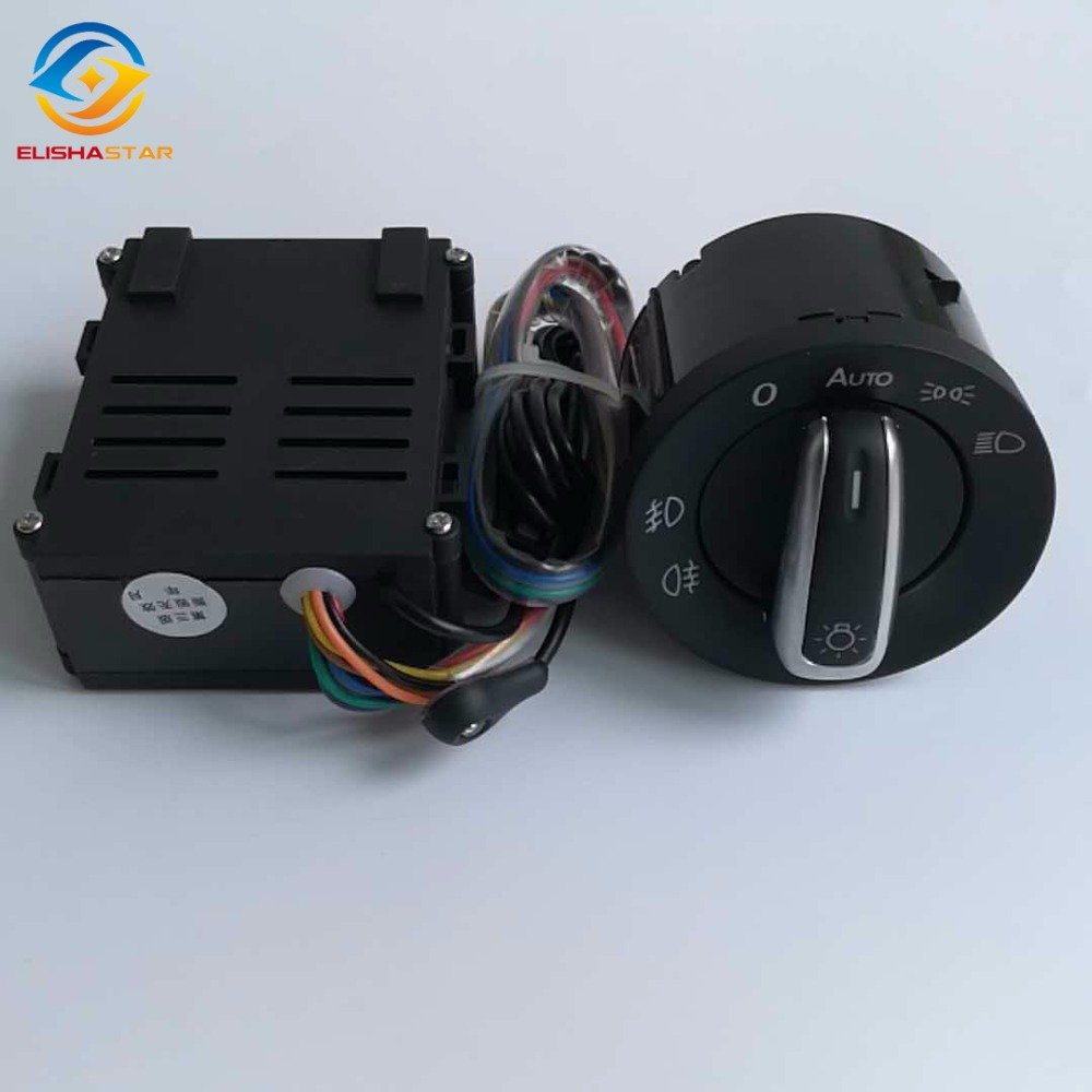 ELISHASTAR Car Auto Headlight Sensor HeadLamp Switch + Control Module for V W T5 T5.1 Transporter 2003-2015 5ND 941 431B