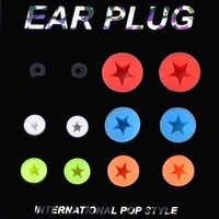 12 piezas Multicolor de silicona de túneles tapones de expansores indicadores 6mm-22mm oído joyería Piercing del cuerpo