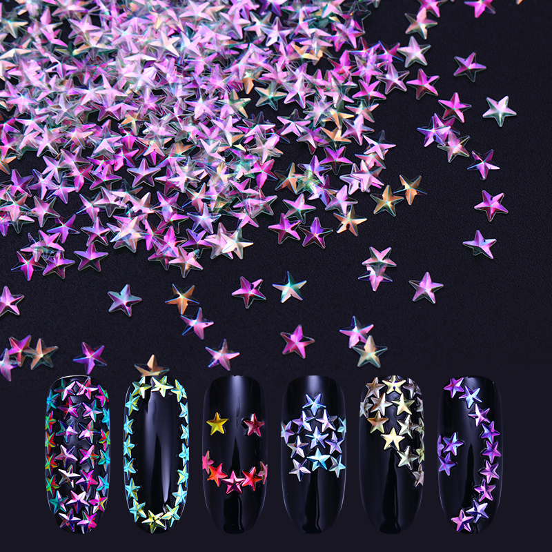 Chameleon AB Color Nail Sequins Colorful Star Iridescent Glitter Flakes Nail Art Decorations Glitter Paillette UV Gel Polish 24 bottles 3d colorful shiny nail glitter powder sequins manicure festival nail art decorations for women
