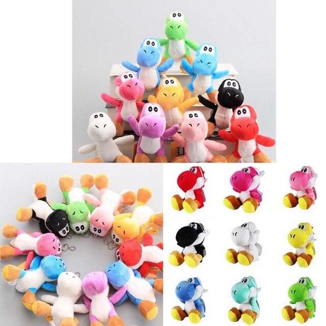 2 PCS/Super Mario Bros Yoshi Verde Mario de Pelúcia Bonecos de Pelúcia Brinquedos de Pelúcia Plush doll Figuras brinquedos 10 cores