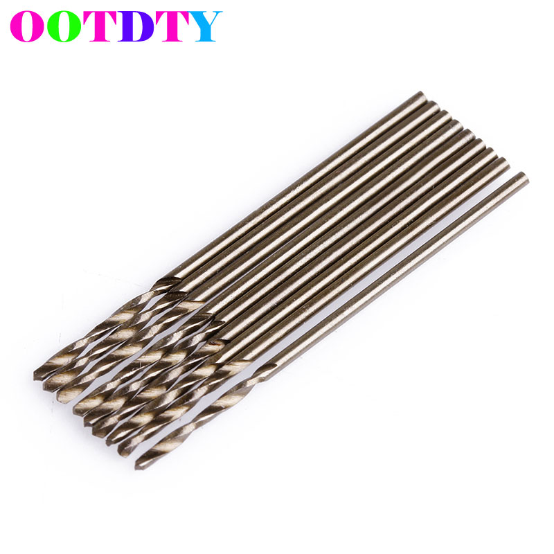 10Pcs/lot 1mm M35 Triangle Shank HSS-Co Cobalt Twist Drill Spiral Drill Bit Set free shipping of 1pc hss 6542 made cnc full grinded hss taper shank twist drill bit 11 175mm for steel
