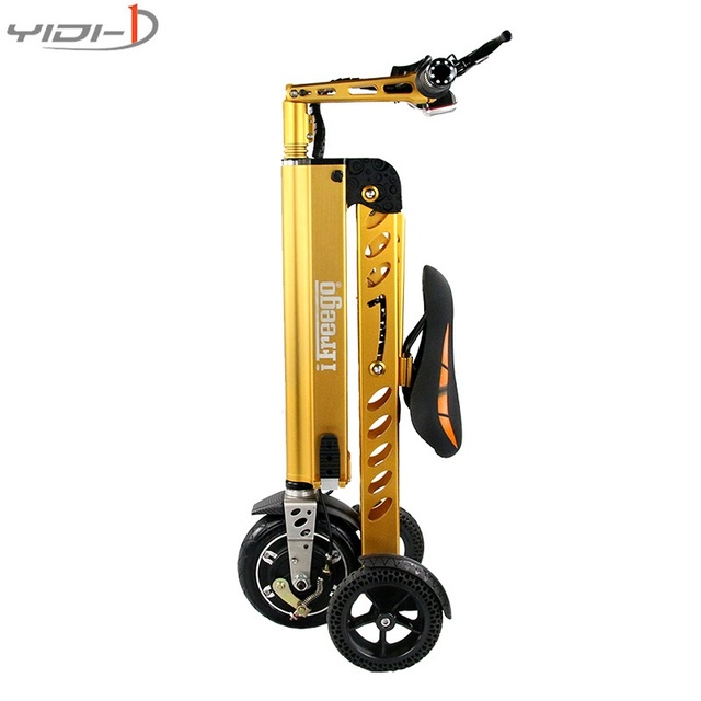 3 Wheels Portable Foldable Electric Bicycle 8 Inches Scooter Patinete Electrico Solid Tire City