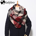 Ladybro 2016 Warm Winter Scarf Women Shawls And Scarves Za Brand Warm Foulard Soft Large Checkered Blanket Scarf Female Pashmina
