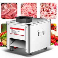 Cortadora de carne comercial de acero inoxidable totalmente automática 850W trituradora cortadora de verduras eléctrica