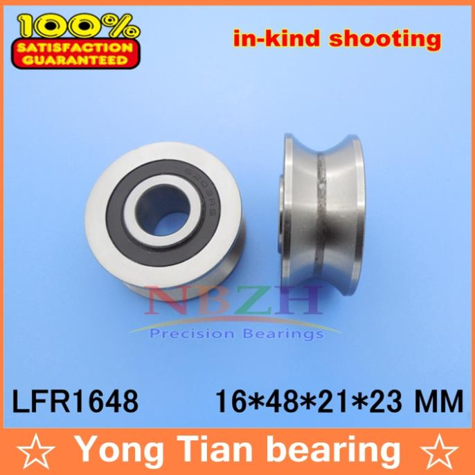 LFR1648 NPP Groove Track Roller Bearings size: 16*48*21*23 mm (Precision double row balls) ABEC-5 gcr15 6326 zz or 6326 2rs 130x280x58mm high precision deep groove ball bearings abec 1 p0