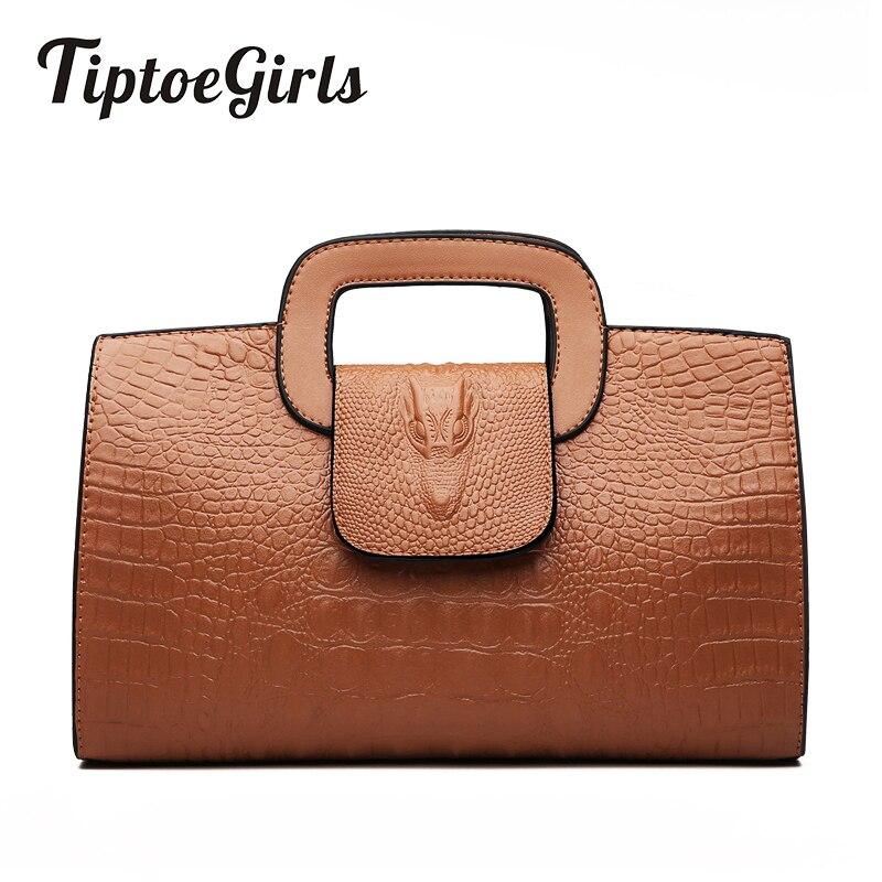 High Quality Crocodile Pattern Handbag New Fashion Personality Temperament Simple Shoulder Bag Wild Casual Messenger BagShoulder Bags   -