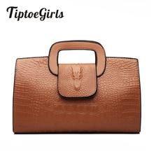 High Quality Crocodile Pattern Handbag New Fashion Personality Temperament Simple Shoulder Bag Wild Casual Messenger Bag цена 2017