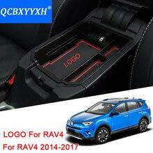 QCBXYYXH автомобиль бардачок органайзер для подлокотника вторичного хранения центральной консоли лоток для Toyota RAV4 2014-2017 автомобильные аксессуары