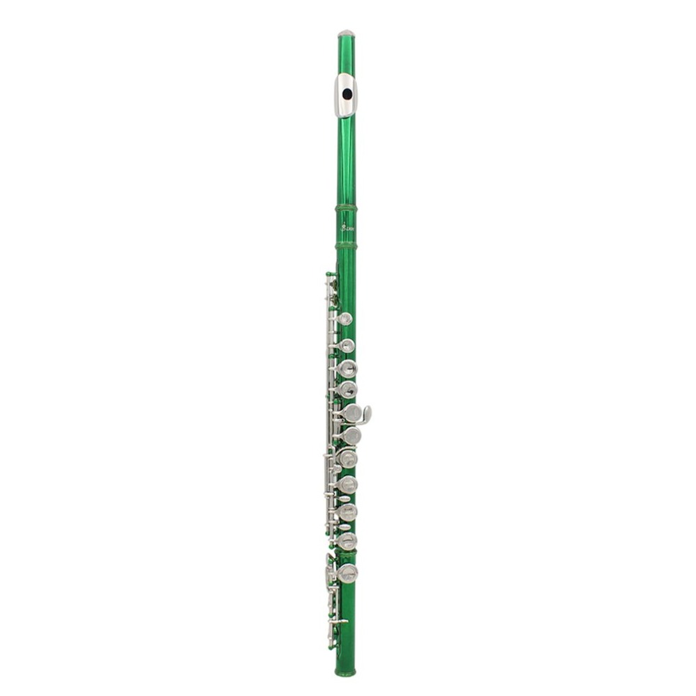 Flute Green Plated Cupronickel Musical Instrument with box good gift for child high quality 2018 New musical instrument repair tools for saxophone flute clarinet repair